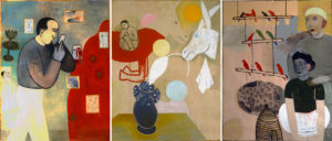 """Blue Moons (Triptych)"" 1996"