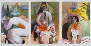 Body Fires (triptych), 1991