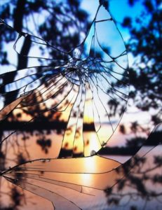 """Broken Mirror/Evening Sky(Agfachrome)"" 2012"