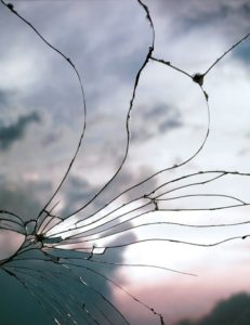 """Broken Mirror/Evening Sky(C-22)"" 2012"