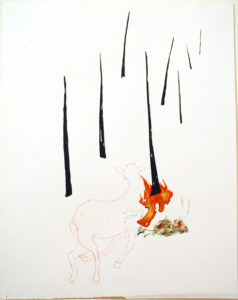 """Deer in the Burning Woods (A)"" 2005"