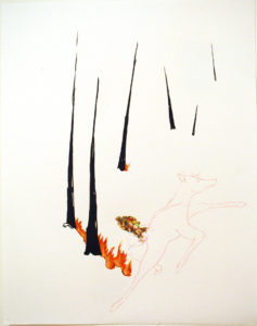 """Deer in the Burning Woods (B)"" 2005"