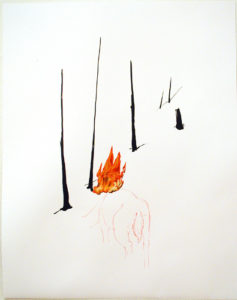"""Deer in the Burning Woods (C)"" 2005"