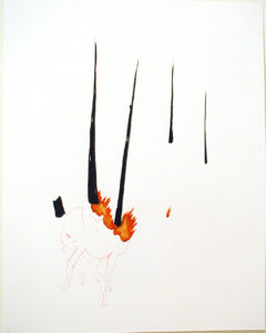 """Deer in the Burning Woods (D)"" 2005"
