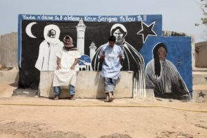 """Three Imams, Dakar, Senegal (with figures)"" 2010"