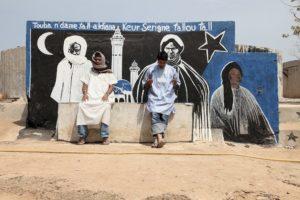 """Three Imams, Dakar, Senegal (with figures)"" 2010"