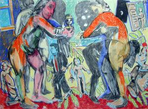 """Artist's Mind/Studio/World: Double Silhouette"" 1990"