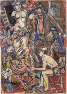"""""""Untitled (Greek Hag, Brown Suited Man)""""  1990"""
