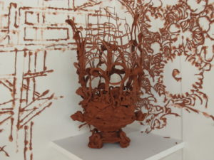 """""""Clay Drawing"""" Archer Gallery, Clark College, 2013"""