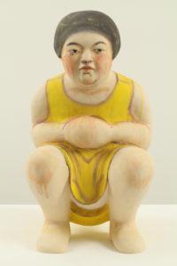"""Squatting Girl in Yellow Dress"" 2012"