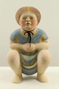 """Squatting Girl in Blue Dress"" 2012"