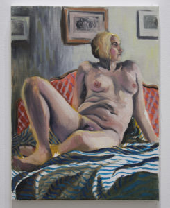 """""""Self-Portrait on Bed"""" 2020"""