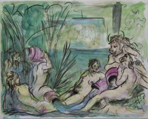 """""""After Boucher: River gods and naiads"""" 2020"""