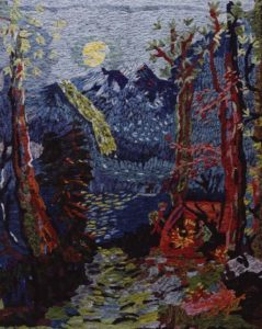 """""""Evening in the Woods, after Grandma Moses"""" 2006"""