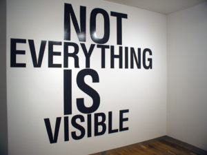 """Not Everything Is Visible"" 2008"