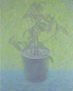 """Photinia with Green Background"" 2012"