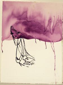 Purple Girl and Lamb
