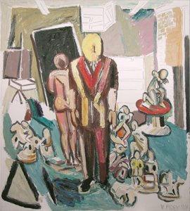 Untitled (Man in Suit with Nude and Figurines)  1984