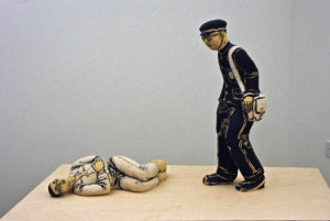 """""""Sleeper and Student,"""" Left: """"Sleeper,"""" 2003, Right: """"Student,"""" 1969"""