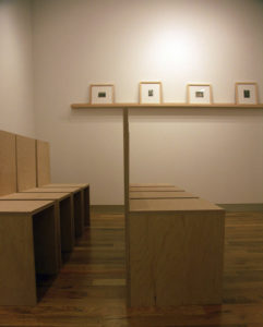 """Installation at James Harris Gallery, 2009 Foreground: """"untitled, 2001 to"""", Farground: """"untitled, 1998 to"""""""