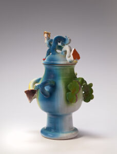 """""""Untitled (Blue, Green, and Yellow Vessel with Forms)"""" 1969-1970"""