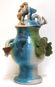"""Untitled (Blue, Green, and Yellow Vessel with Forms)"" 1969-1970"