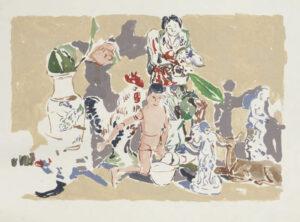 """Untitled (Manikin Man with Figurines)"" 1974-75"