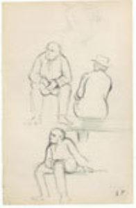 Sketches of Three Seated Men, c. 1888-9