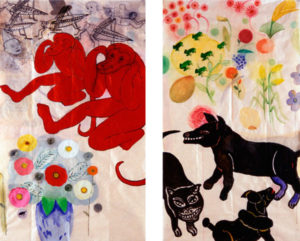 """Flora and Fauna (Diptych)"" 2002"