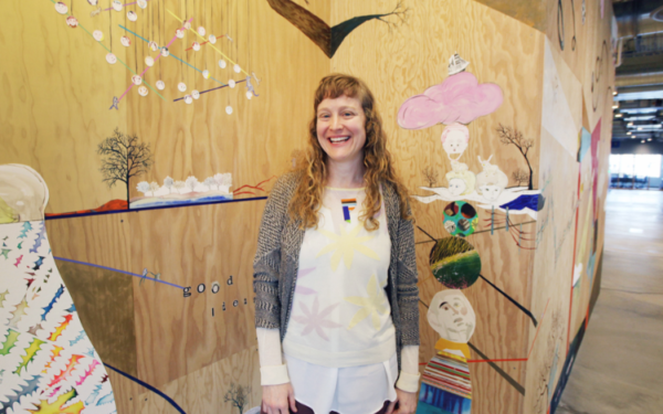 Claire Cowie is artist-in-residence at Facebook's new Seattle office in South Lake Union