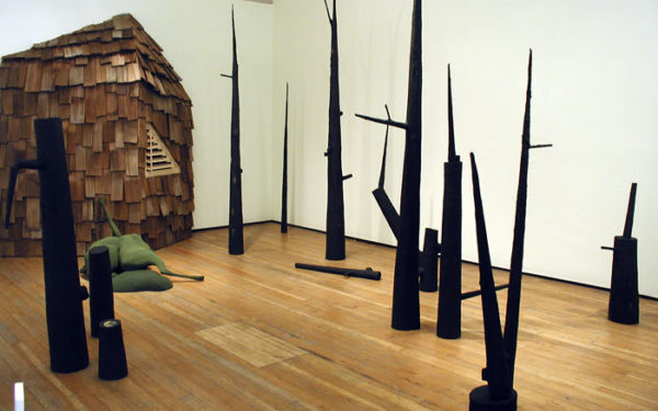 "Patrick Holdenfield, ""Pilgrim: A sculptural installation paired with new works on paper"""